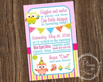 Printable Owl Birthday Invitation