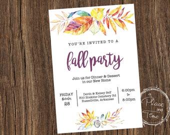 Printable Fall Party Invitation