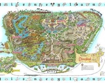 graphic relating to Printable Map of Disneyland called Disneyland map Etsy