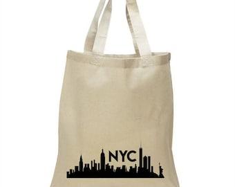 High Quality Heavy Canvas Tote Bag - New York City skyline NYC
