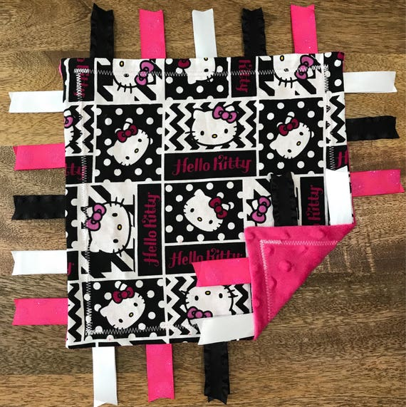 cd0852b6c Hello Kitty Minky Baby Tag Blanket    Security Blanket