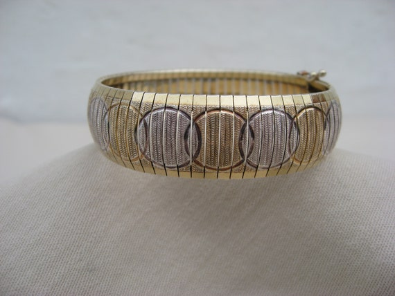 Vintage Italy bracelet. Retro gold-plated silver b