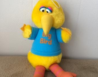 Sesame Street, Big Bird, Playskool, plush, vintage