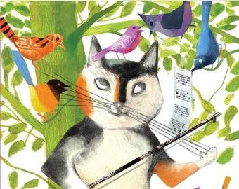 Whisker Violin - Birthday Card