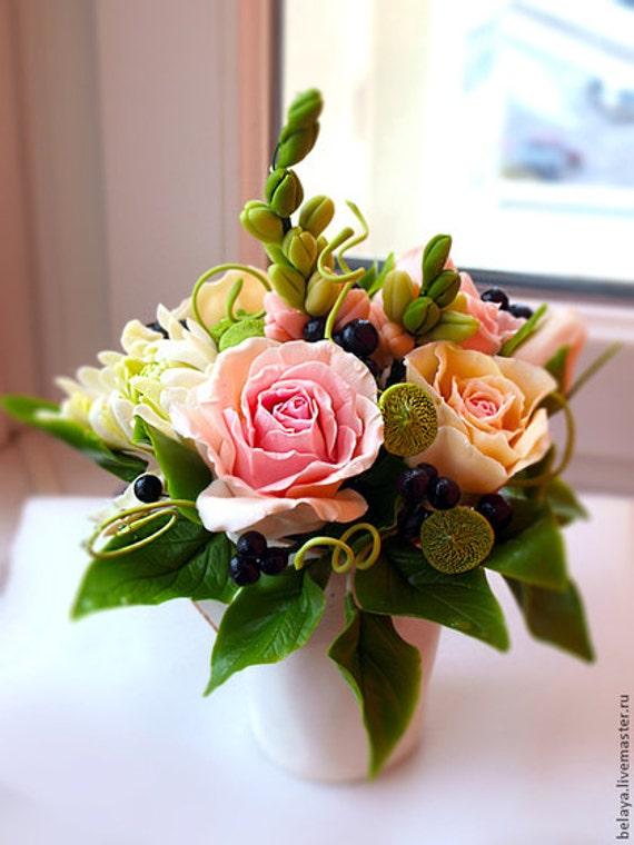 Tasse Mit Blumen Vintage Blumenstrauss In Einer Tasse Mit Etsy