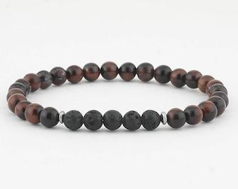 Men's diffuser bracelet, men's lava bead bracelet, Essential oil bracelet, Oil diffuser bracelet, Lava bead bracelet, Aromatherapy jewelry