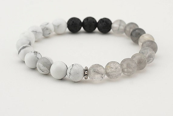 Lava Bead Bracelet Essential Oil Diffuser Bracelet Gray