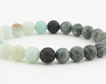 Lava bead diffuser bracelet, diffuser bracelet, gemstone bracelet, diffuser, essential oils, men's bracelet, women's bracelet, aromatherapy