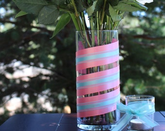 """7.5"""" Cylinder Flower Vase - 2 Colors"""