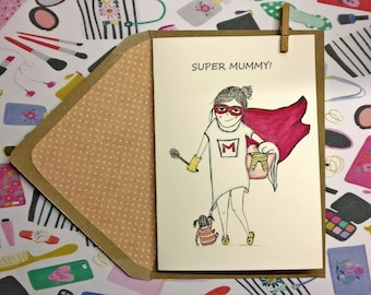 Mother's Day Card, Handmade mum card, first mother's day card, mum and baby, mother's day keepsake,Birthday cards, Mother's day gift, mum