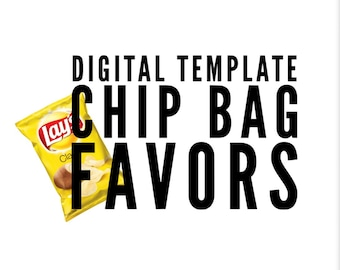 Chip Bag Template- Cricut Design Space and Microsoft Word