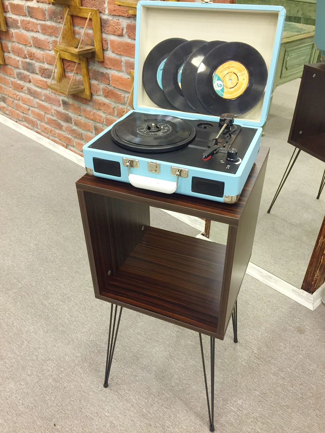Turntable Stand,Display and Turntable Consolle,Vinyl Consolle,Record Player Stand