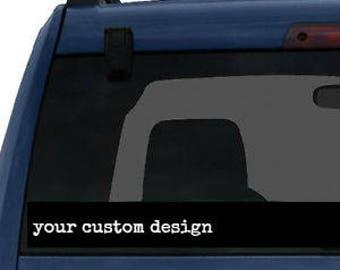 Customized Car Window decal