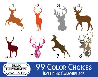 Browning whitetail deer buck hunting doe country window sticker vinyl 10 COLORS