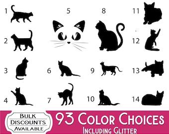 Cat Decal / Cat Vinyl Decal / Cat Sticker / Glitter Cat Decal / Cat Yeti Decal / Cat Car Decal / Cat Laptop Decal / Kitten Decal / Kitten