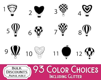 Hot Air Ballon Vinyl Decals - Hot Air Balloon stickers for Yeti tumblers, laptop computers, car windows and more