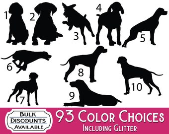 German Short Haired Pointer Silhouette Dog Decal - Dog Sticker for cars, laptops, dog bowls, containers, tumblers or any hard smooth surface