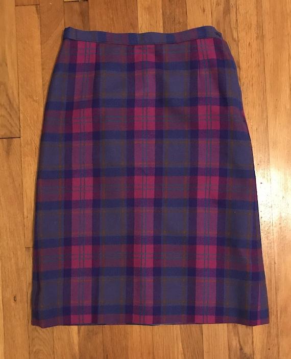 Vintage Pendleton 100% Wool Tartan Skirt and Scarf - image 3