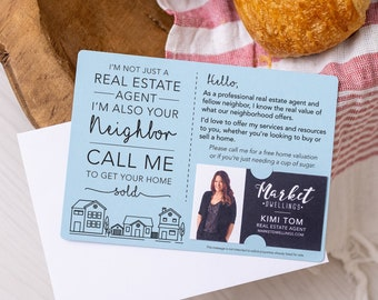 Set of I'm not just a Real Estate Agent, I'm also your Neighbor Mailer   Real Estate Agent Marketing   Promote Business   Mailable   M2-M003