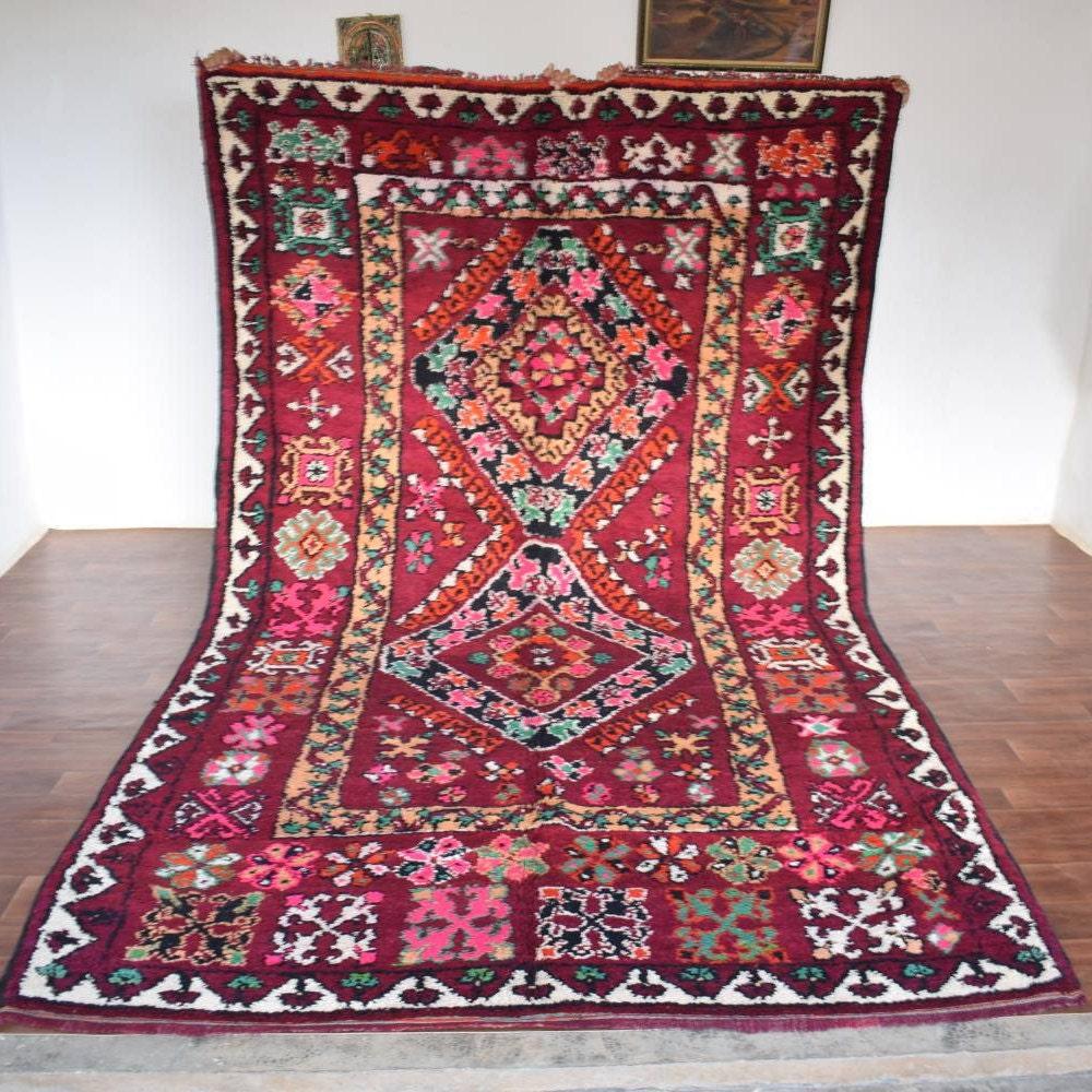 CINNASPICE 7X12 Berber Boujad Rug Boujaad Wool Rug Tribal