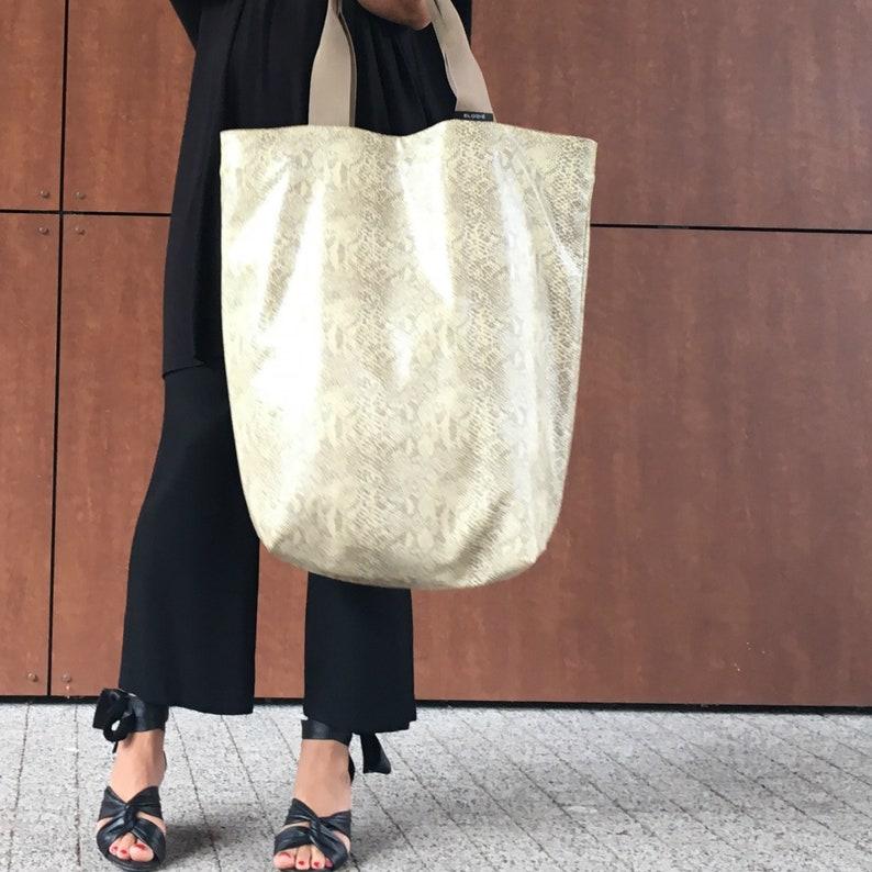 86214b49481062 Snake skin print bag unique xl shoulder bag handmade tote   Etsy