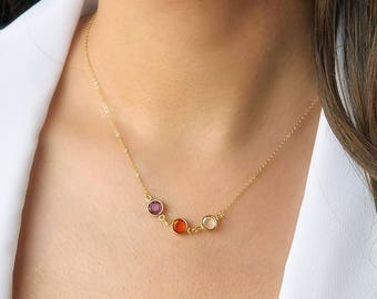 birthstone necklace for mom - Gift for mom, Family tree necklace, Personalized Mothers Gift, Grandmother necklace, Christmas gift for her