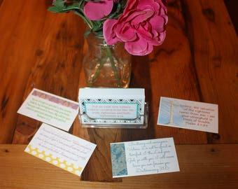 Emotional support for Women, joyful Dawn personalized scripture cards. Jesus, God, Easter Gift