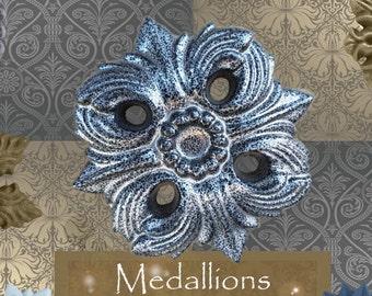 "One ""Equinox"" Curtain Medallion ~SINGLE ITEM~ Hold back,Drapery Tabpost,Rosette"
