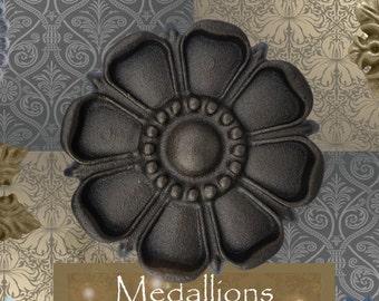 "One ""Harmony"" Curtain Medallion ~SINGLE ITEM~ Hold back,Drapery Tabpost,Rosette"