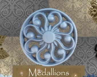 """One """"Solar"""" Curtain Medallion ~SINGLE ITEM~ Hold back,Drapery Tabpost,Rosette"""