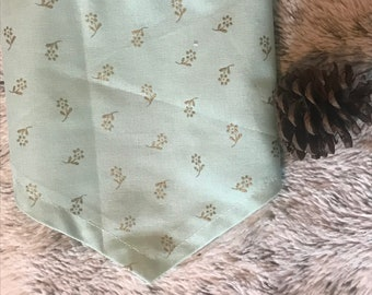 Dog Bandana - Teal and Gold Flowers/Floral