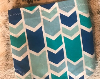 Dog Bandana - Teal and Blue Chevron