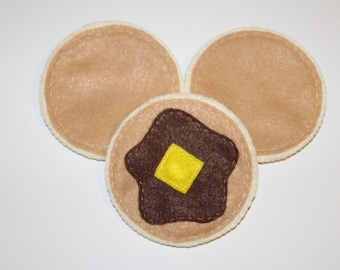 Felt Pancakes Breakfast food pretend play