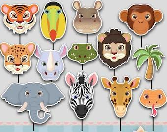 Safari Jungle Zoo Animals Cupcake topper for Safari Jungle Zoo Animals Party!