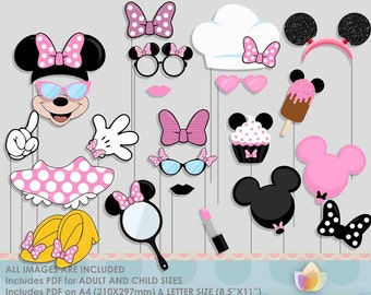 SALE!! Limited Time! Pink Mouse Party Photo Booth Props for girly mouse party!