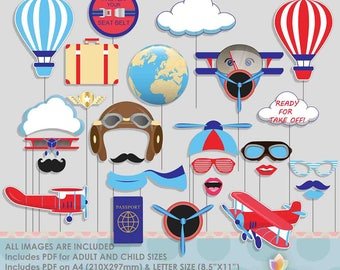 Airplane Photo Booth Props Airport Photobooth Props Airplane