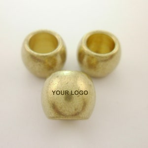 50pcs Flat Square 6mm Raw Brass Beads Spacers with 2mm Hole Free Vector Design 01010828 Custom Your Brands Logos Initials