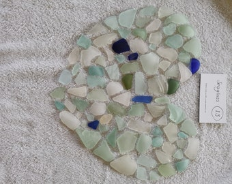 Seaglass No.13 Vintage Blues From a North east English Beach Selling my Childhood Collection Bundle Mosaic Jewellery