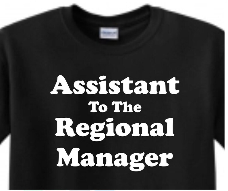 0b5c1598 Assistant to the Regional Manager BLACK T-shirt The Office | Etsy