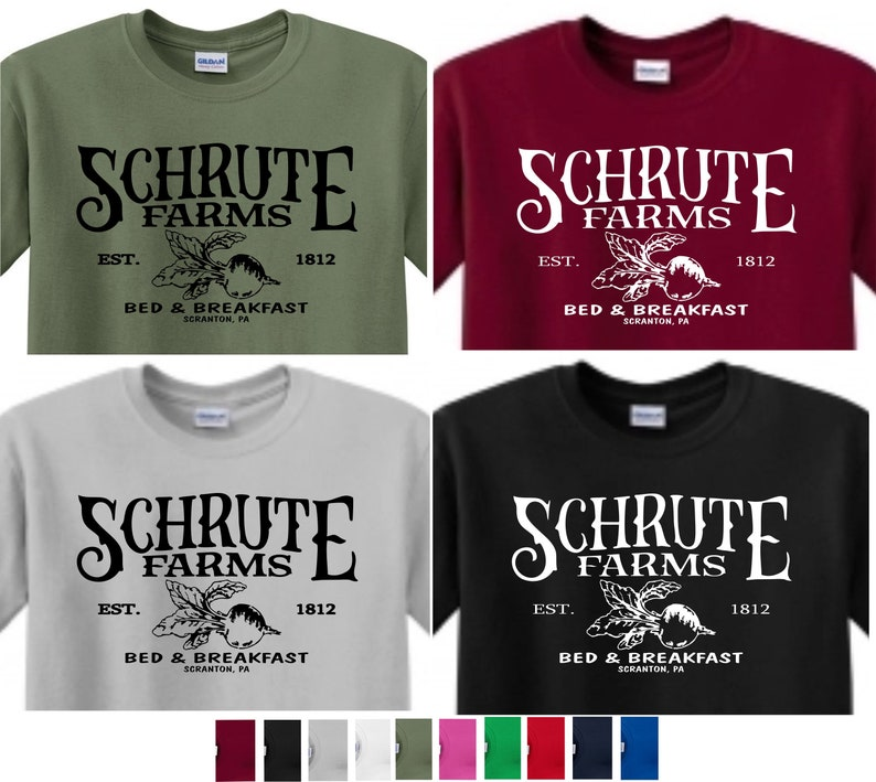 a0649128 SCHRUTE FARMS T-shirt The Office T-shirt Dwight Schrute The | Etsy
