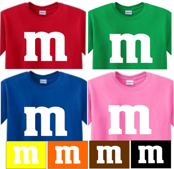 554c93488ae m Candy t shirt M M shirt Youth and adult XS S M L XL m and m