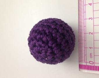 Bead crochet cotton Purple 2.7 cm