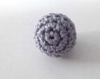 Pearl gray crochet 2.7 CM