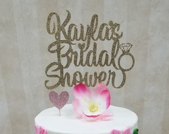 ANY NAME Bridal Shower Cake Topper, Personalized Cake Topper, Bride to Be, Engagement Cake Topper, Miss to Mrs Topper, Future Mrs Topper