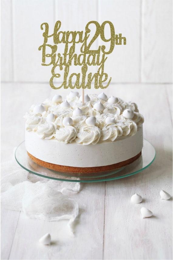 Strange Any Name Happy 29Th Birthday Cake Topper Birthday Cake Etsy Personalised Birthday Cards Veneteletsinfo