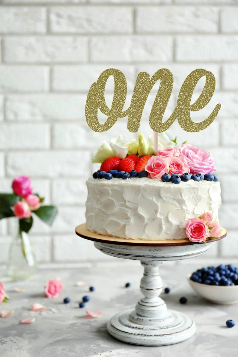 ONE Cake Topper First Birthday One