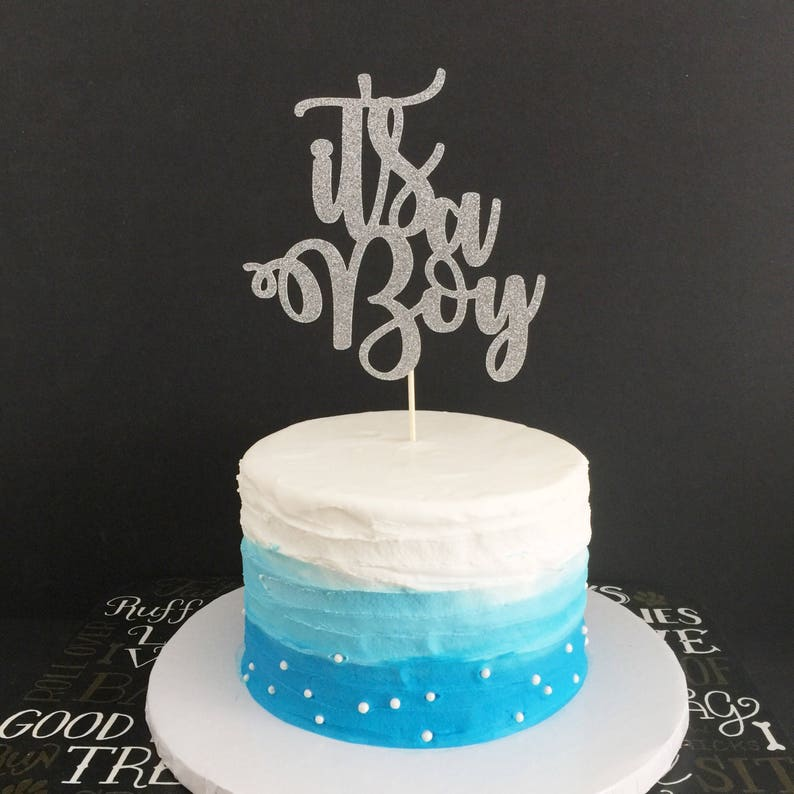 db57d5f813dbf Baby Boy Cake Topper, Its A Boy Cake Topper, Boy or Girl Cake Topper, Baby  Shower Cake Topper, Gender Reveal Party, Baby Sprinkle