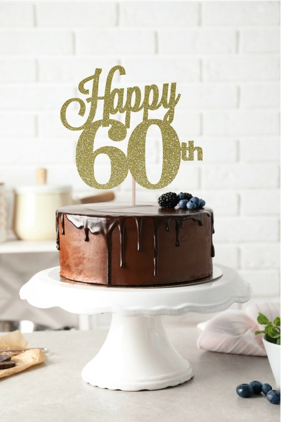 Happy 60th Cake Topper Birthday