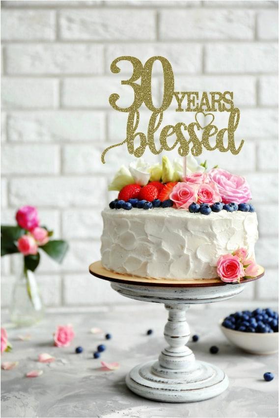 30th décoration anniversaire SALE 30 cake topper Paillettes Carte