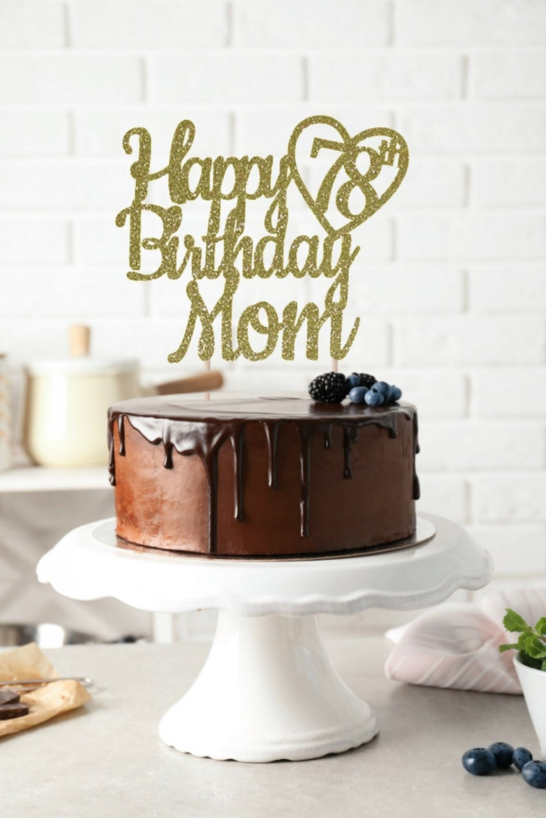 ANY NAME Happy 78th Birthday Cake Topper Custom Party Decor